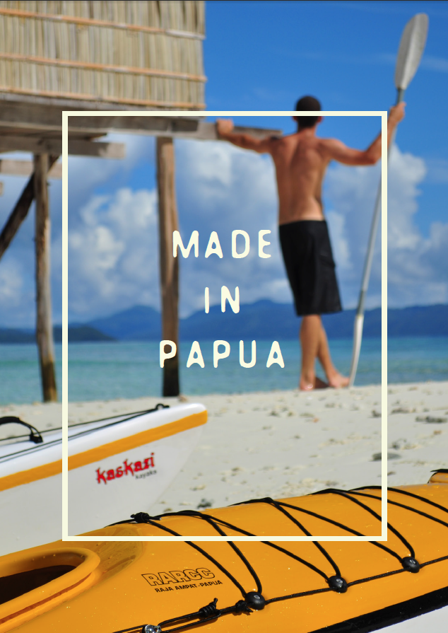 All our kayaks are handmade by Papuans
