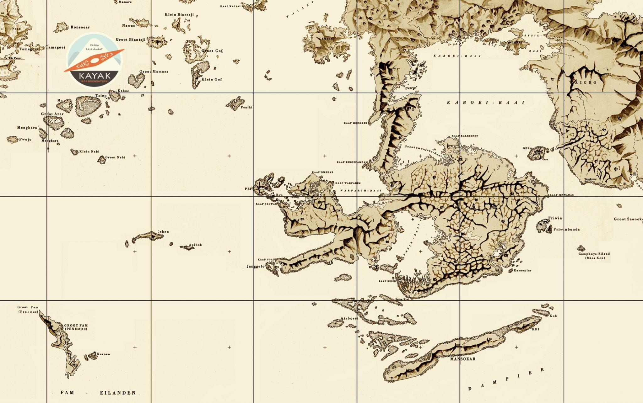 K4C Raja Ampat Map